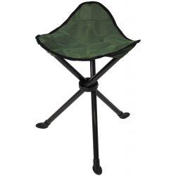 Folding stool, tripod, olive