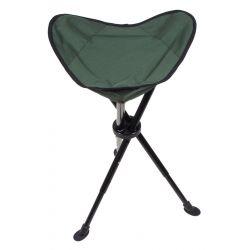 Folding stool, telescopic tripod, olive
