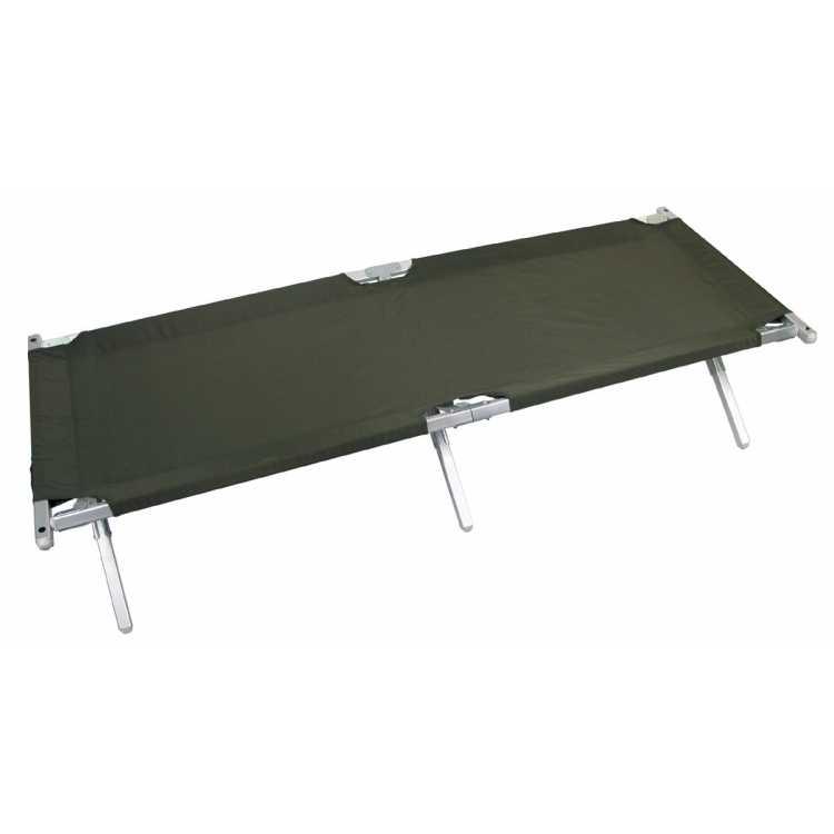 US camp bed, aluminum, like the original, olive