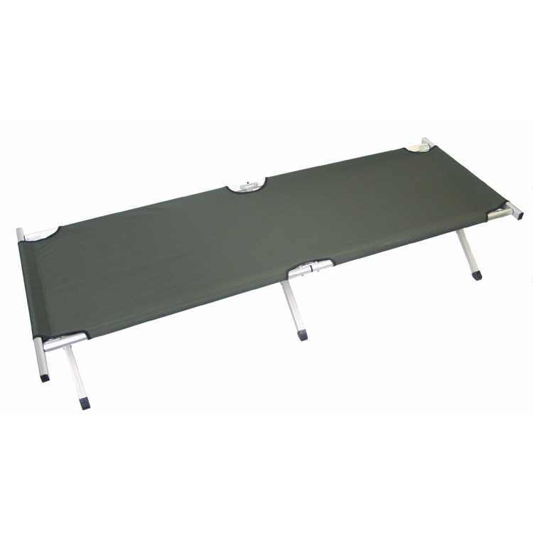 US camp bed, aluminum, olive, extra long